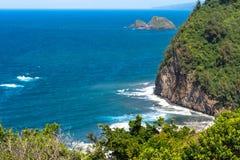 The coast along North Kohala, Hawaii Royalty Free Stock Photography