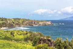 The coast along Punalau Bay, Maui Royalty Free Stock Image