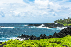 The coast along the Road to Hana in Maui, Hawaii Stock Images
