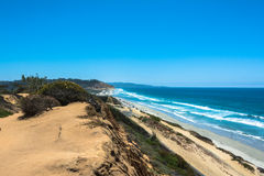 The coast along Torrey Pines, South California Royalty Free Stock Images