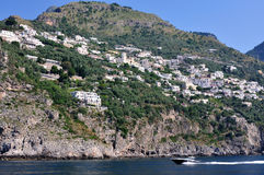 The coast of Amalfi, Costiera Amalfitana,  Italia Royalty Free Stock Photo