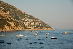 Coast of Amalfi, Italy. The coast of Amalfi in the afternoon as seen from the town of Positano Royalty Free Stock Photos