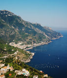 Coast of Amalfi, Italy. The coast of Amalfi in the afternoon as seen from the town of Ravello Stock Images