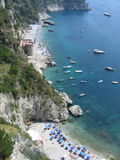 Coast of Amalfi in Italy Stock Images