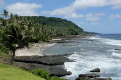 Coast. The Coast of American Samoa in the South Pacific Stock Photography