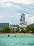 Coast Andaman Sea, beach and hotels Stock Photos