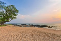 Coast of the Andaman sea at colorful sunset stock photo