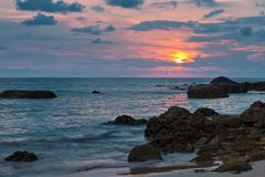 Sunset at the beach of Khao Lak. Thailand Stock Photo