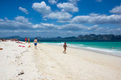 The coast of Andaman sea stock images