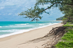 Coast of Andaman Sea in the Indian Ocean. Royalty Free Stock Photography