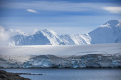 Coast of Antarctica with centuries-old thicknesses off glaciers Stock Image