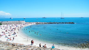 Coast in Antibes Stock Photography