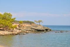 Coast at antic ruins of Phaselis, Turkey Royalty Free Stock Image