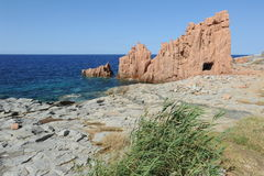 Coast at Arbatax on the island of Sardinia Stock Photo