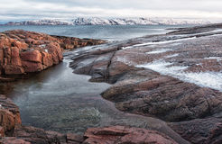 Coast of the Arctic Ocean Royalty Free Stock Photos