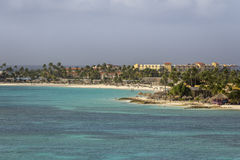 Coast of Aruba Royalty Free Stock Images