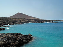 Coast of Ascension Island. Coast and mountain on Ascension island Stock Images