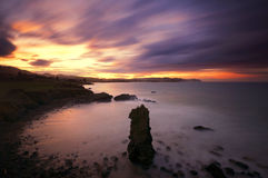 Coast of Asturias at dawn Stock Photos