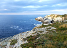 Coast of Asturias, Spain. Coast of Asturias in Spain with a blue sky Stock Photography