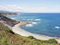 Coast of Asturias, Spain Stock Image