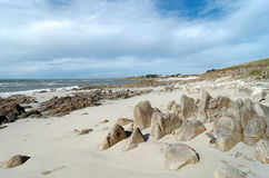 Coast of Audierne bay. Audierne bay in Brittany coast Royalty Free Stock Photography