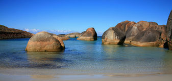 The coast of Australia. Elephant Rocks, rocks on the coast of Australia Royalty Free Stock Photos