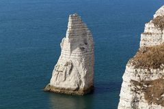 The coast at the Aval cliffs of Etretat Stock Images