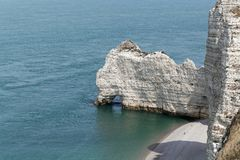 The coast at the Aval cliffs of Etretat Royalty Free Stock Image