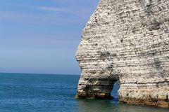 The coast at the Aval cliffs of Etretat Royalty Free Stock Photo