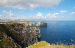 Coast of the Azores. View over the coast of the Azores, Portugal Royalty Free Stock Image