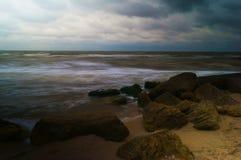 The coast of the Azov sea Royalty Free Stock Photography