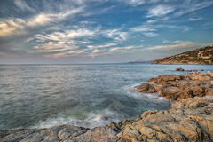 Coast of Balagne region of Corsica Royalty Free Stock Photography