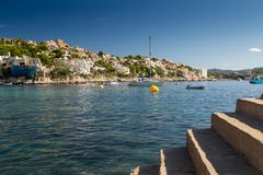 Coast of the balearic Island of Mallorca. This ist a Picture of the Coast of Mallorca from the Balearic islands in the mediterrean Sea in Europe. Millions of Royalty Free Stock Images