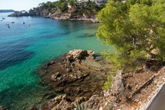 Coast of the balearic Island of Mallorca. This ist a Picture of the Coast of Mallorca from the Balearic islands in the mediterrean Sea in Europe. Millions of Stock Photos