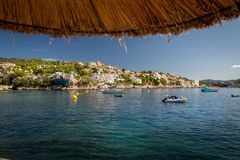 Coast of the balearic Island of Mallorca. This ist a Picture of the Coast of Mallorca from the Balearic islands in the mediterrean Sea in Europe. Millions of Stock Photography