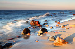 Coast in baltic stock images