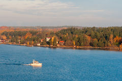 The coast of the Baltic Sea in clear autumn day Stock Image