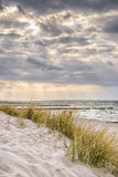 Coast of Baltic Sea with dark clouds Stock Photography