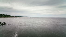 Coast of the Baltic Sea Panning Time Lapse at Day Royalty Free Stock Image