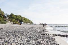 Coast of the Baltic Sea. In Poland Stock Image