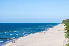 Coast of the Baltic Sea. In Poland Royalty Free Stock Photos