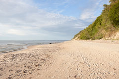 Coast of the Baltic Sea. In Poland Stock Image