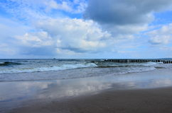 Coast. Of the Baltic Sea in Ustka Stock Images
