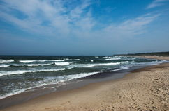 Coast. Of the Baltic Sea in Ustka Royalty Free Stock Photos