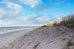 Coast baltic sea in winter stock photography