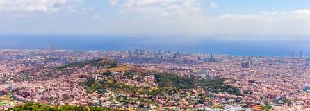 Coast Barcelona skyline Cityscape Stock Photos