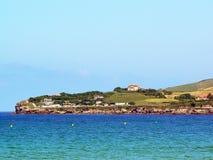 Coast of the bay of Gijon, Asturias. Spain. royalty free stock images