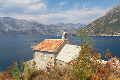 Coast of the Bay of Kotor. Montenegro Royalty Free Stock Image