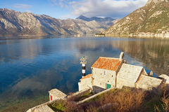 Coast of the Bay of Kotor. Montenegro Royalty Free Stock Images