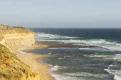 Coast and beach attraction on Great Ocean Road Royalty Free Stock Photo